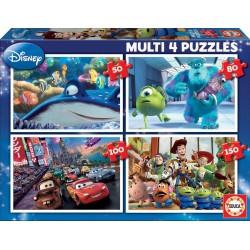 Educa Borras Multi Disney 4 Puzzles (50-80-100-150 pcs) 15615