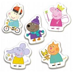 Puzzles for kids Puzles Educa Borras Puzzles Progressive Peppa Pig 3 - 4 - 4 - 4 - 5 pcs 15622