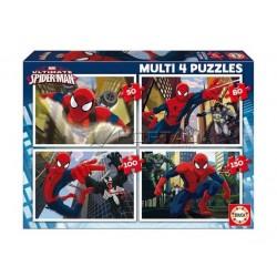 Educa Borras Multi Spiderman 4 Puzzles (50-80-100-150 pcs) 15642