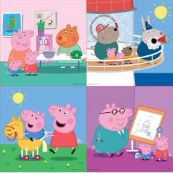 Puzzles for kids Educa Borras Puzzles Progressive Peppa Pig 12 - 16 - 20 - 25 pcs 16817