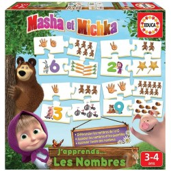 Puzzles for kids Educa Borras Puzzles Numbers Masha and the Bear 18542