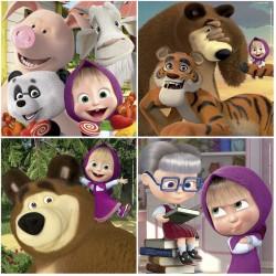 Puzzles for kids Educa Borras Puzzles Masha and the Bear 12 - 16 - 20 - 25 pcs 18642