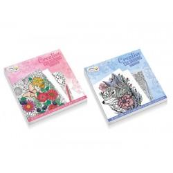 Art set Grafix Colouring book, 21x21cm, 128 designs, 120 gsm, 2 ass CR0384/19GE