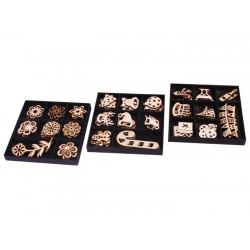 Craft set Grafix Wooden Shapes 24 pcs in wooden box 3 ass CR0275