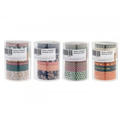 Grafix Washi Tape with Foil, 6pcs x 300cm, in tube, 4 ass CR1083/GE