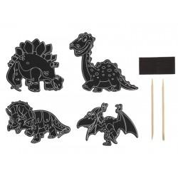Craft set Grafix Engraving Dinosaurs 8 Pcs EDS8