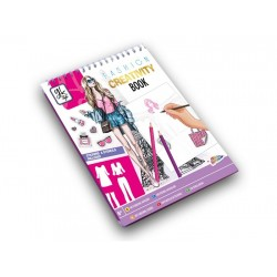 Craft set Grafix Stencil Book with Stickersheets Fashion STBO2AS