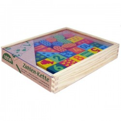 Educational game Lena Wooden Beads - Numbers (5 colors) 32007