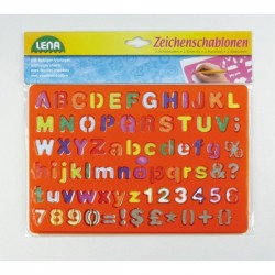 Art set Lena Stencil Set Alphabet/Numbers and Signs 65774
