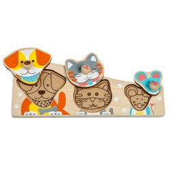 Wooden frame-insert (puzzle) Lucy&Leo Friends Peg Puzzle LL188