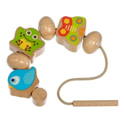Wooden educational toy Lucy&Leo Lacing Beads Wooden Set LL190