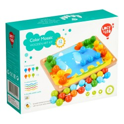 Wooden toys set - mosaic + lacing game Lucy&Leo Color LL219