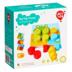 Wooden toys set Lucy&Leo Big Peg Mosaic LL220