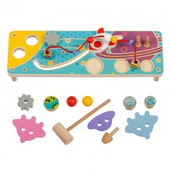 Wooden educational toy Lucy&Leo Busy Board Space LL181