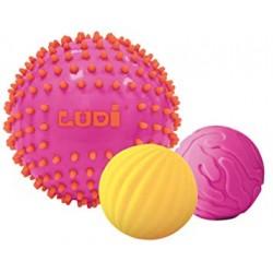 Balls set Ludi PACK OF 3 PINK SENSORY BALLS 30022