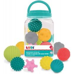 Balls set Ludi Assortment of 8 Sensories Balls 30055