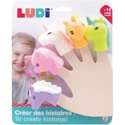 Educational toy Ludi Finger Puppets Unicorn 30073