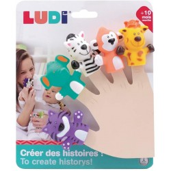 Educational toy Ludi Finger Puppets Jungle 30074