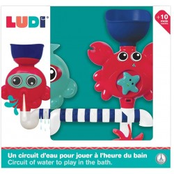 Bathing set with suction cup Ludi Aqua Game Crab 40009