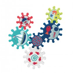 Bathing set with suction cup Ludi Bath Gearing 40056