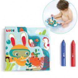 Bathing set Ludi Bath Color Book with 2 pencils 40058