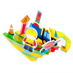 Bathing set Meadow Kids Diggers and Dumpers Floating Activity Scene MK037