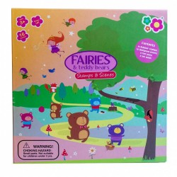 Art Set Meadow Kids Fairies and Teddy Bears Stamps and Scenes MK043