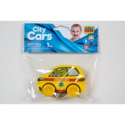 Educational toy Millaminis City Cars - Ambulance Yellow 20004