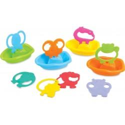 Bathing set PlayGo Safari Rowboat Bath Toy Set 12 pcs (4 boats + 8 animals) 1981
