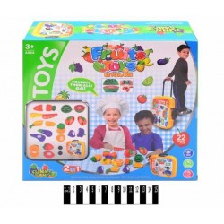 Play kitchen set in a suitcase Fruits Game 36778-85
