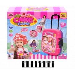 Play kitchen set in a suitcase Cake Game 36778-886