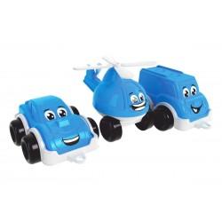 Play set transport mini Teh Toy Set Police machines 3 pcs. 26.4*12.2*9 cm 5804