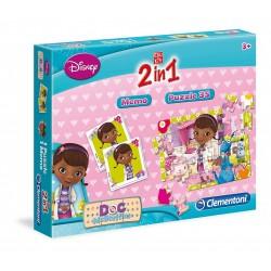 """Clementoni 2-in-1 """"Doc McStuffins"""" Education Kit (Memo+Puzzle) 13465"""