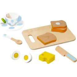 Wooden kitchen set Die Spiegelburg My Breakfast Wooden Trimming Set 14 parts 14423