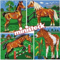 Mosaic pixel puzzle Ministeck Horses 3500 pcs. 31301