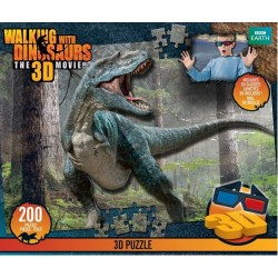 Vivid Imaginations Walking With Dinosaurs Puzzle with 3D glasses 200 pcs. 50712