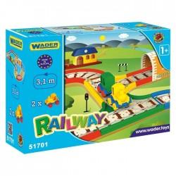 Game set Wader Kid Cars Railway 3.1m 51701