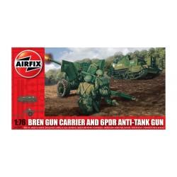 Airfix A01309 Bren Gun Carrier & 6pdr Anti Tank Gun 1:76 Scale Series 1 Plastic Model Kit